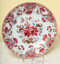 Antique set of twelve Chinese export porcelain plates c.1730 | From a unique collection of antique and modern ceramics at https://www.1stdibs.com/furniture/asian-art-furniture/ceramics/