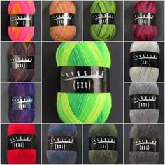 Zitron Trekking sock yarn. German sock yarn in wonderful colors. You'll find them in my webshop: www.bittamis-design.com