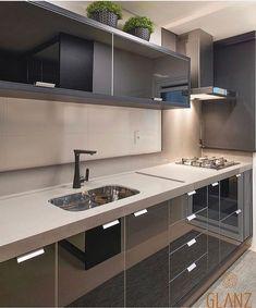 My dream kitchen Small Space Kitchen, Kitchen Sets, Kitchen Colors, Kitchen Design, Aluminum Kitchen Cabinets, Herd, Kitchenette, Luxury Kitchens, Beautiful Kitchens