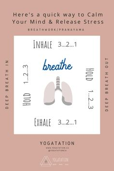 Deep breath in. Deep breath out. Box breathing is a powerful, yet simple, relaxation technique that aims to return breathing to its normal rhythm. This breathing exercise, also referred to as pranayama or breathwork, may help to calm the mind, relax the body, improve focus and help to release stress. #pranayama #yoga #breathwork #relaxthebody #breathinbreathout #inhaleexhale #meditation #yogablog #yogatationca Breath In Breath Out, Deep Breath, Yoga Breathing, Inhale Exhale, Learn Yoga, Release Stress, Relaxation Techniques, Pranayama, Yoga For Beginners