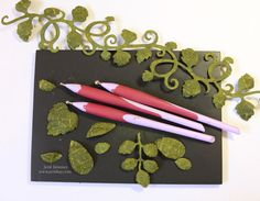 Embossed Leaf Tutorial ~ incredible method for creating life-like foliage.  Make ahead for a reserve stash to pull from as needed.
