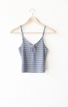 - Description Details: Striped lace up crop top in navy/white with adjustable front tie & straight back. Form fitting, tend to run on the smaller side & are more fitted. Measurements (Size Guide): S: