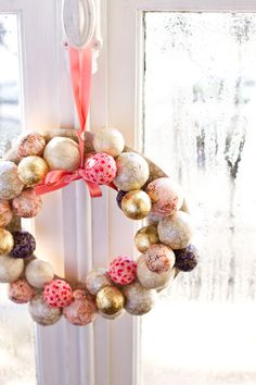 DIY Christmas wreath by Carnets parisiens