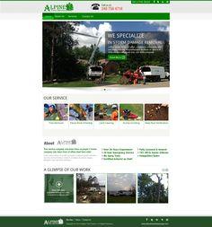 Website we recently finished for Alpine Tree Service #webdesign #responsivedesign #mobilewebsite