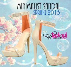SPRING 2015  Perfect Minimalist Sandal  @www.fabrebel.com #shoes #heels #platform #sandals #powerheel #minimalist #spring2015 #neutral #shoelover #iloveshoes #perfectpair