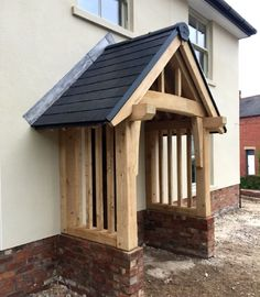 The English Porch Company produce beautiful bespoke and traditional wooden porches, porch kits, porch frames, oak framed porches and canopy porches in the UK. Porch Uk, Cottage Porch, House With Porch, Screened In Porch, Porch Swing, Front Porches, Porch Roof, Porch Timber, Porch Canopy
