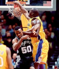 Shaquille O'Neal Los Angeles Lakers David Robinson San Antonio Spurs