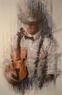 """""""The violinist"""" - Remi Labarre. Work Pictures, Pictures To Paint, Art And Illustration, Illustration Pictures, Violin Art, Art Design, Art Music, Art Drawings, Contemporary Art"""