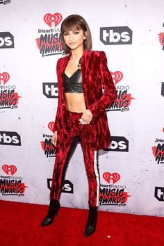 Pin for Later: You've Got to See the Sexy Something Zendaya's Wearing Under Her Red Suit