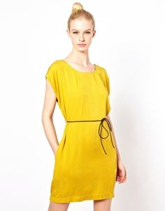 Beautiful color. Bold color offset by simple style and casual leather belt. $144 on ASOS