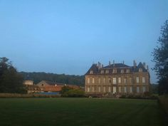 This panoramic view is far enough from the Chateau that many of the outer buildings can be seen.