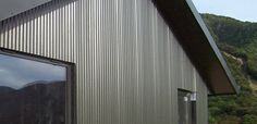 Vertical metal cladding project overview Steel Cladding, Cladding Systems, Contemporary Barn, Window Detail, Exterior Cladding, House Siding, Granny Flat, Building Design, Home Projects