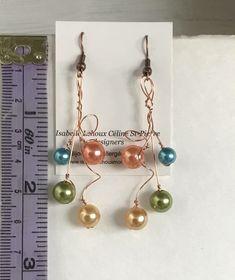 BOUCLES D'OREILLES BALLONS PRINTANIERS Ballons, Pearl Earrings, Drop Earrings, Pearls, Jewelry, Ears, Handmade Gifts, Handmade, Boucle D'oreille