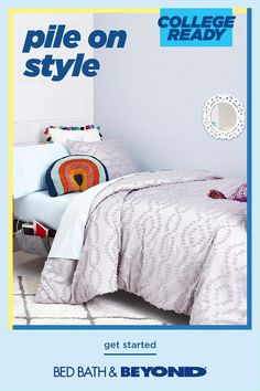 No matter what school looks like this year, you deserve a bed that's both stylish and comfortable. We've got what you need to show off your personality. Find sheets, a comforter, throw pillows, blankets, and more at Bed Bath & Beyond. Small Courtyard Gardens, Small Courtyards, Room Decor Bedroom, Dorm Room, Twin Xl Sheets, First Grade Worksheets, Make Your Bed, College Dorm Bedding, Cool Beds