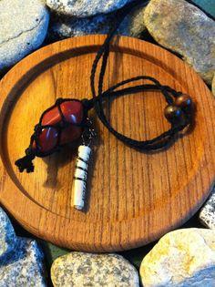 Red Jasper Protection Charm Necklace. By Carla VanKoughnett <3 ~ ArtCraftandNature