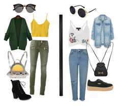 """#10"" by jigli on Polyvore featuring мода, Balmain, Topshop, WithChic, Journee Collection, LE3NO, Miss Selfridge, Charlotte Olympia, Illesteva и Gucci"
