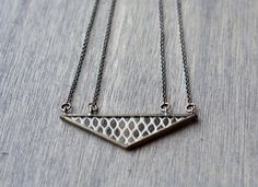Triangle Snakeskin Necklace by HartVariations on Etsy, $98.00