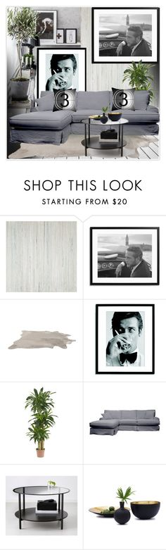 Living Room by lidia-solymosi on Polyvore featuring interior, interiors, interior design, home, home decor, interior decorating, Sonic Editions, Nearly Natural, Dot & Bo and Crate and Barrel