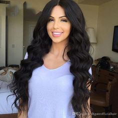 Glueless Silk Top Lace Wigs Pre-Plucked Body Wave Full Lace Wigs Human Hair With Baby Hair For Black Women Natural Hair Line Natural Hair Styles For Black Women, Wigs For Black Women, 100 Human Hair, Human Hair Wigs, Wigs For Sale, Loose Waves, Free Hair, Body Wave, Human Hair Extensions