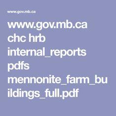 www.gov.mb.ca chc hrb internal_reports pdfs mennonite_farm_buildings_full.pdf Buildings, Pdf