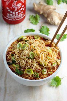 Spicy Sriracha Ramen Noodle Soup