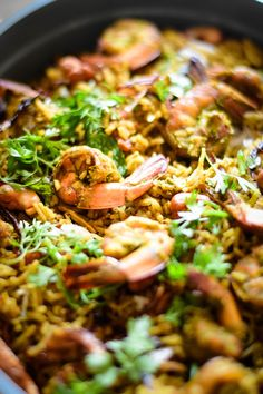Green Masala Prawn Biriyani – ( Spicy Green Masala Base )