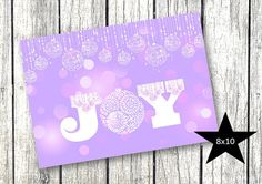Purple DIY Christmas Holiday Décor Printable