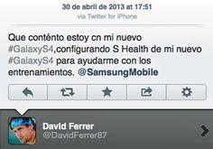 Ejemplo de mala gestión de marca personal. Se está haciendo publicidad de un Samsung con un Iphone