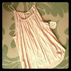 Pink Embellished Top So cute pullover gathered top in lovely creamy pink color  Metallic gold embellishments  Softest Cotton Knox Rose Tops
