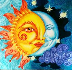 """Day And Night"" by mirrandall / Sun, Moon & Stars"