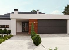 uA65 - zdjęcie 2 House Plans, Garage Doors, New Homes, Outdoor Decor, Modern, Home Decor, Style, Houses, Swag