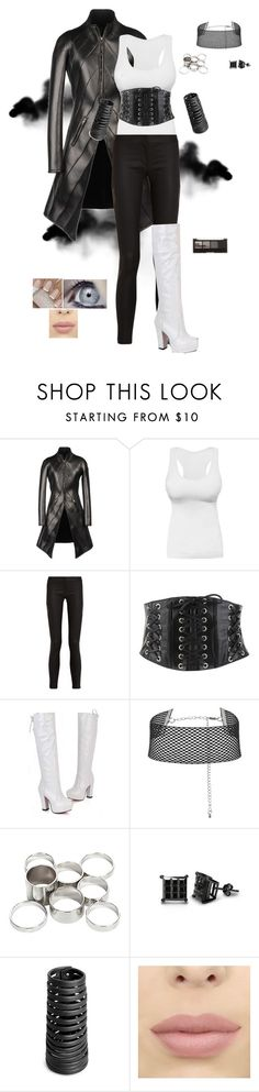 """""""Black Smoke"""" by gone-girl ❤ liked on Polyvore featuring Gareth Pugh, Forever 21, Missguided, Rick Owens and H&M"""