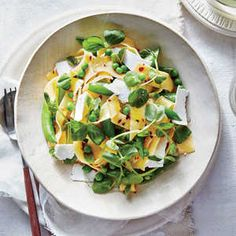 Sugar snaps, green peas, and pea shoots enrich this dish with sweet flavor and a bounty of pleasing textures. Look for pea shoots at your...