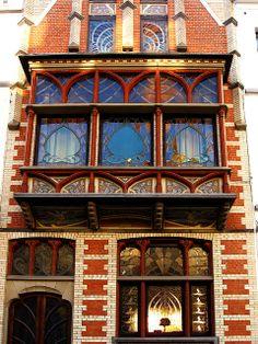 Art Nouveau Architecture   Art Nouveau Architecture, Jeweled Windows 2   Flickr - Photo Sharing!