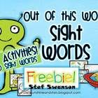 {FREEBIE!!} Sample of my 169 page Sight Word Activities MEGA PACK {14 Activities and Centers}
