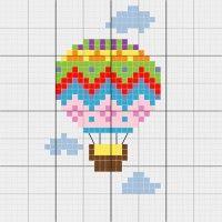 Hot Air Balloon - Stitch Fiddle