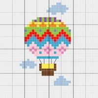 Hot Air Balloon - Stitch Fiddle