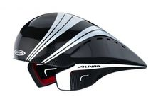 This £400 skid lid from Alpina is made from a basic foam safety lid with a light, enclosed carbon fibre shell which curves so as to better fit your back.