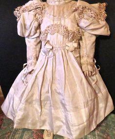 Antique Ivory Silk w/Lace Original French Bru, Jumeau Steiner Bisque Doll Outfit | Dolls & Bears, Dolls, Antique (Pre-1930) | eBay!