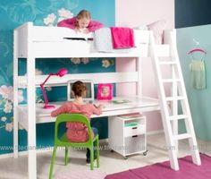gain de place dans la chambre ado avec un lit mezzanine