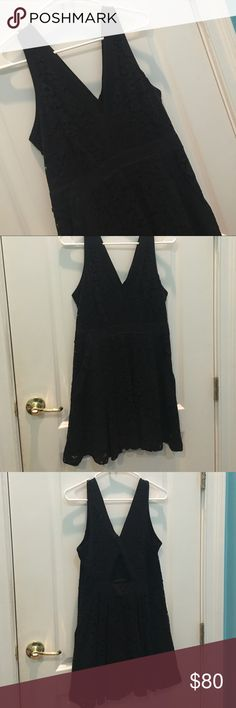 Free People Crochet Dress Plunging neckline with extra hook. Cut out back. Free People Dresses