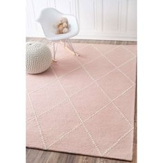 Tuscan Dotted Diamond Trellis Nursery Baby Pink Rug - Rugs USA – Area Rugs in many styles including Contemporary, Braided, Outdoor and Flokati Shag rug - Girl Room, Girls Bedroom, Bedroom 2018, Bedrooms, Bedroom Sofa, Nursery Area Rug, Girl Nursery Rugs, Nursery Room, Nursery Ideas