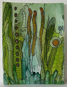 ---    +Natur, Pflanzen, Blumen ...  eine vornehme Fee und  viele Freunde in  Vegetation und Farben   gemalt mit viel Freude ...+    ---        Ein _'