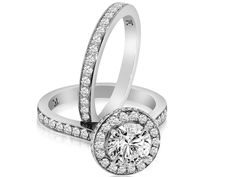 Matching #diamond #engagement and #weddingrings - Find more at www.myweddingconcierge.com.au