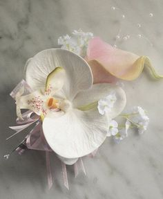 Silk Wedding Corsage Calla Lily and Orchid Wedding by Wedideas, $15.00