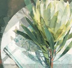Jeannie Kinsler: A Protea: fine art | StateoftheART Clouds Hill, Long Shadow, Pebble Painting, Canvas Size, Original Artwork, Plant Leaves, Fine Art, Gallery, Artist