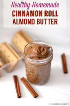 Like Cinnamon Rolls?  Then you'll LOVE this Healthy Cinnamon Roll Almond Butter!  It's an almond butter spread infused with cinnamon roll flavor.  It's incredibly rich, buttery and sweet, but witho...