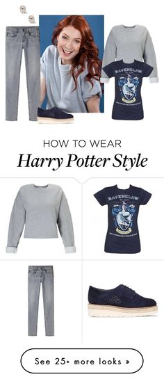 """""""Felicia Day"""" by roseunspindle on Polyvore featuring Miss Selfridge, Proenza Schouler, Carvela, denim, ravenclaw and feliciaday"""