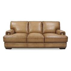 Leather Sofa in Fusion Sand | Nebraska Furniture Mart