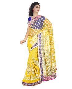 Saree Colour : Yellow Blouse Colour : Blue Collection : KSS102 Saree Fabric : Pallu Brasso + Weightless Blouse Fabric : Dhupian Saree Length : 5 Meter Blouse Length : 0.90 Cm Ptticoat : Not Available Stitching: Un_Stitched Work : Embroidered Style : New Arrival Saree Season : Any Weight: 1 Kg Occasion : All Occations Fulfillment Type : Ready To Ship Wash Care : Recommends Wash Only.